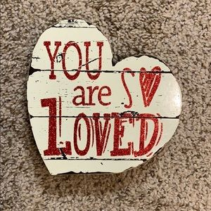 'You are so Loved' wooden sign